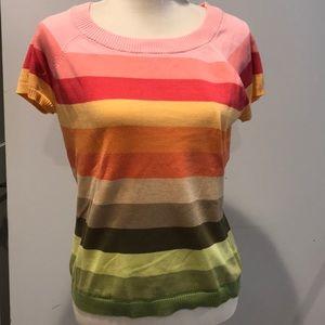 Talbots Striped Cotton Sweater - Size Large